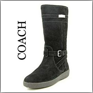 Coach Tallulah Black Suede winter Fashion Boot
